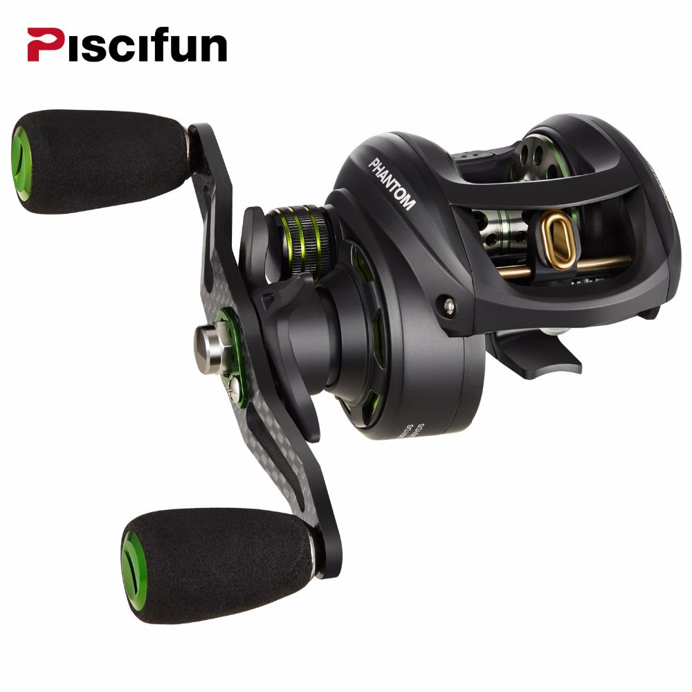 Piscifun Phantom Carbon Fiber Ultralight 162g Baitcasting Reel Dual Brake 7.7kg Max Drag 7.0:1 Freshwater Fishing Reel