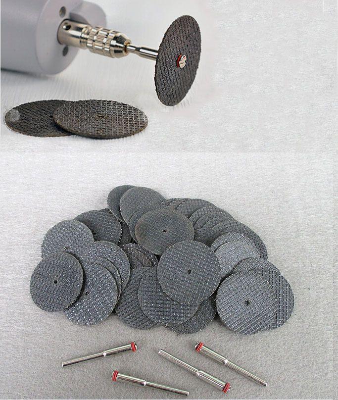 50 pc En Fiber De Verre Renforcé Abrasifs Coupe Disque Cut Off Wheel avec 4 Mandrins Fit Dremel Outil Rotatif Accessoires