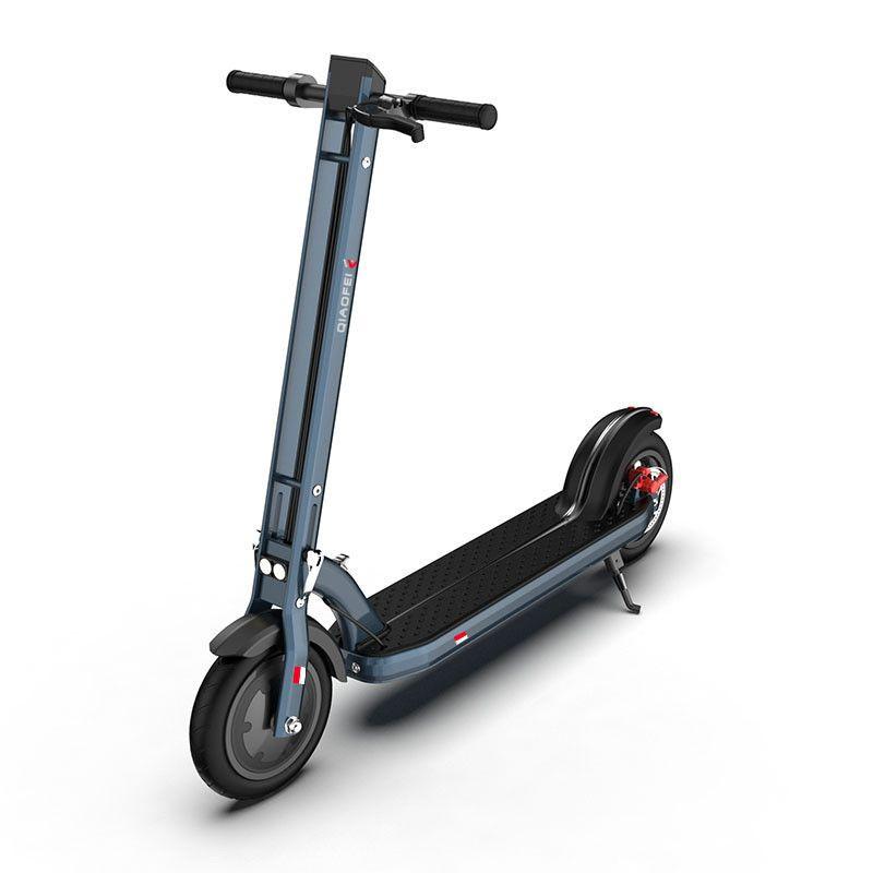 Tretroller Für Erwachsene Zwei Räder Elektro-scooter 8,5 Zoll 300 W Tragbare Faltbare Elektrische Roller 36 V Grau/ weiß Mit APP