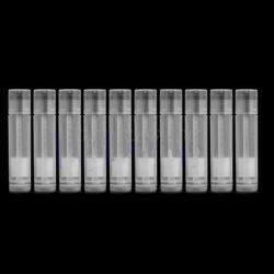 10 Pcs Bening Kosong Lip Balm Tabung Wadah Transparan Lipstik + Topi