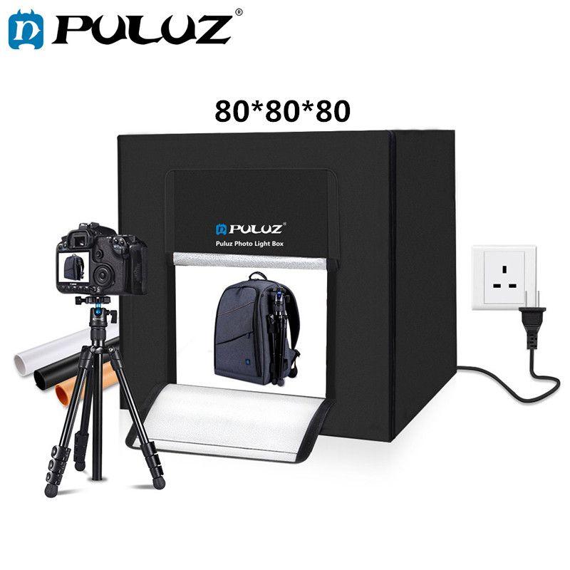 PULUZ 80 cm leuchtkasten Foto Studio Box Softbox 80 W Weiß Licht Foto Beleuchtung Studio Schießen Zelt Box Kit & 3 fotografie Hintergrund