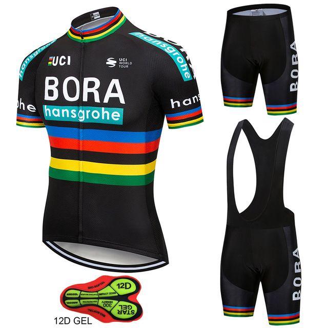 Bike Team BORA hangsgrohe Cycling Sets Maillot Ropa Ciclismo BORA Bicycle Jersey Summer Bike Cycling Clothing Outdoor Jersey Men