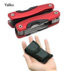 Yalku Zange Edelstahl Multi tool Funktions Zange Hand Werkzeuge Zange Schraubendreher Tool Kit Kombination Outdoor Multitool