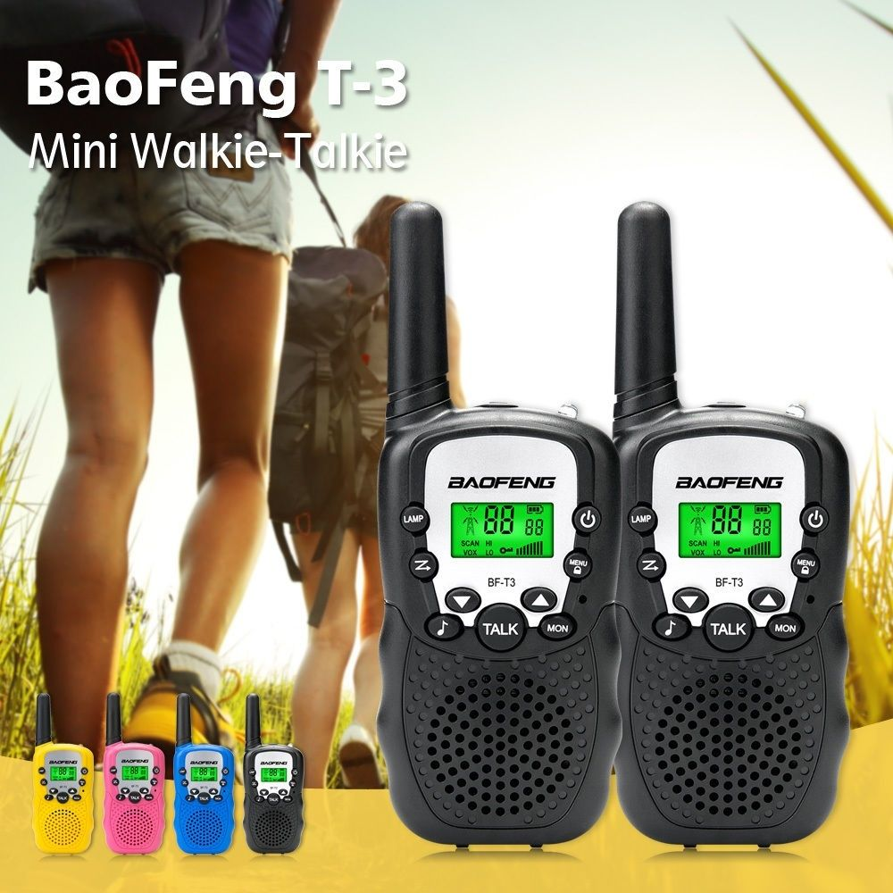 1 Pair Mini Baofeng BF-T3 Walkie Talkie Portable 8 Channel Children Two-Way Radio 10 Call Tones Hf Transceiver Communicator T3