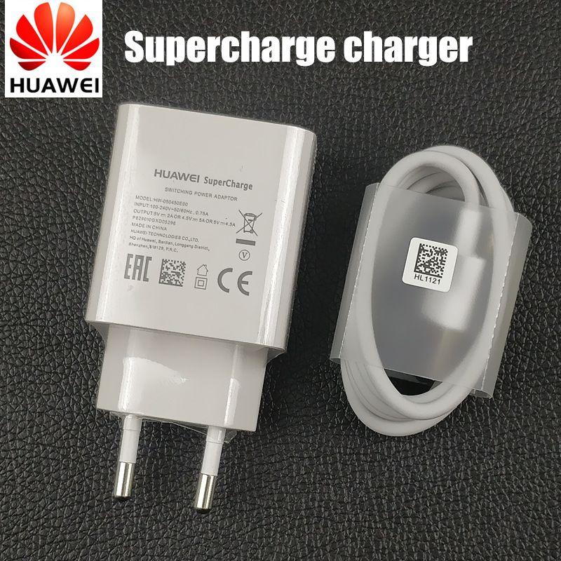 D'origine Huawei p20 Chargeur pro 5 v/4.5a booster adaptateur charge rapide usb type C câble pour p10 compagnon 10 9 honor 10 v10 note 10