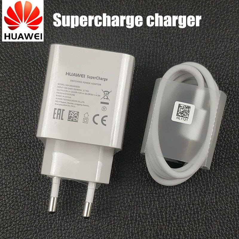 Original Huawei Mate 20 pro Charger EU supercharge adaptor fast charge usb type C <font><b>cable</b></font> for p10 P20 pro mate 10 9 honor 10 V10