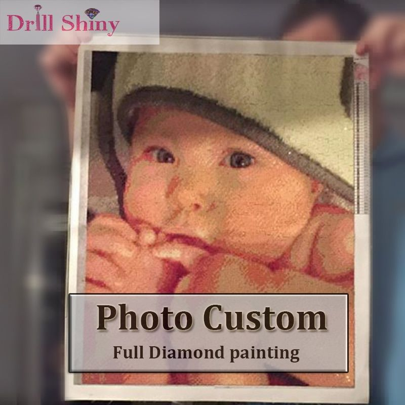 Drill Shiny New Year 3D Diy Diamond Painting Personal Photo Custom Full Square Private Picture Embroidery Animal Cross Stitch