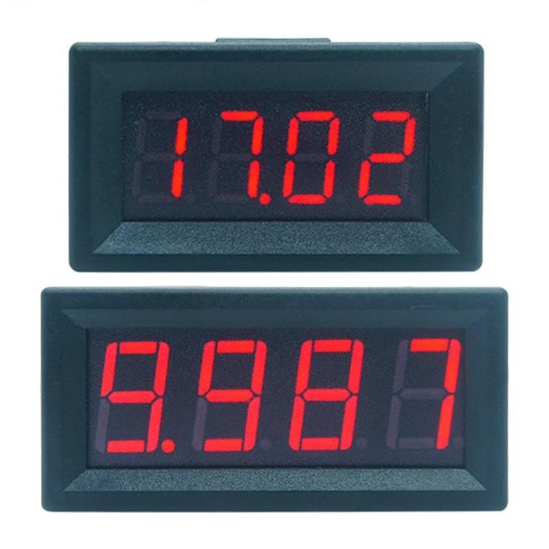 Mini Digital Led-anzeige 4 Bits DC 0-100 V Voltmeter Panel Volt Spannung Meter Tester Detektor für Auto home Elektrische Instrumente