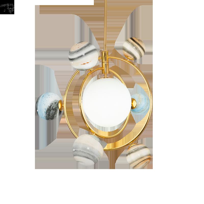 Bunte Glas Kronleuchter G9 Led Planeten Neuheit Kreative Persönlichkeit Moderne Luxus Schlafzimmer Wohnzimmer Kinderzimmer Bar Hängen lampe