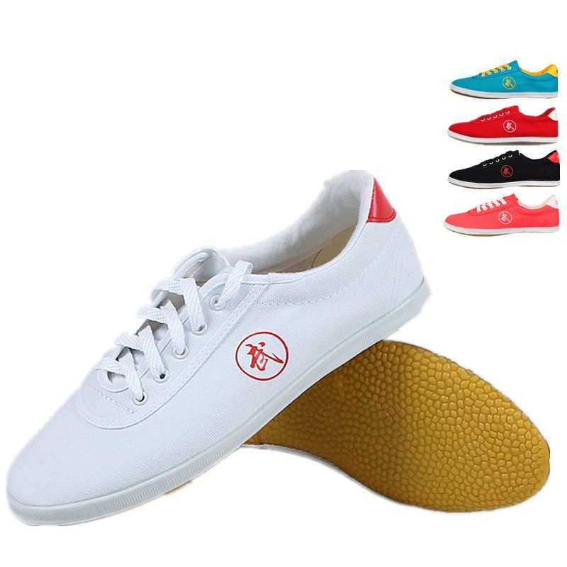 High quality Tai Chi Shoes School Child White Sports Shoes Martial Arts Men Women taiji Wu Shu Shoe Kung Fu 5 colors