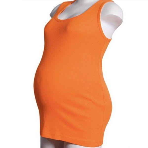 Летние для беременных Повседневная футболка Мумия материнства модальный жилет майка бретели
