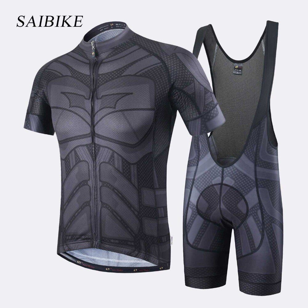 Super Hero Iron man Superman Spiderman Batman cycling jersey men <font><b>short</b></font>/long cycling clothing roupa ciclismo cycling clothing set