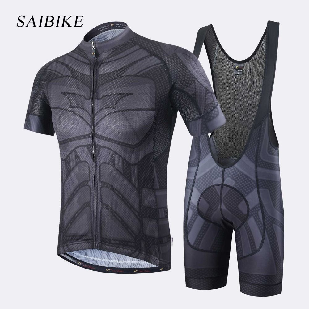Super Hero Iron man Superman Spiderman Batman cycling jersey men short/long cycling clothing roupa ciclismo cycling clothing