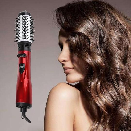 2 in 1 Rotating Curling Iron Brush Constant Temperature Hot Air Comb Automatic Hair Comb Rotating Curling Iron Brush