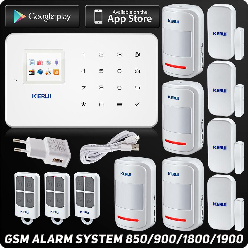 Kerui G18 GSM Alarme Système TFT Android IOS APP Tactile clavier Android ISO App Système D'alarme Antivol Maison Intelligente DIY Motion Sensor