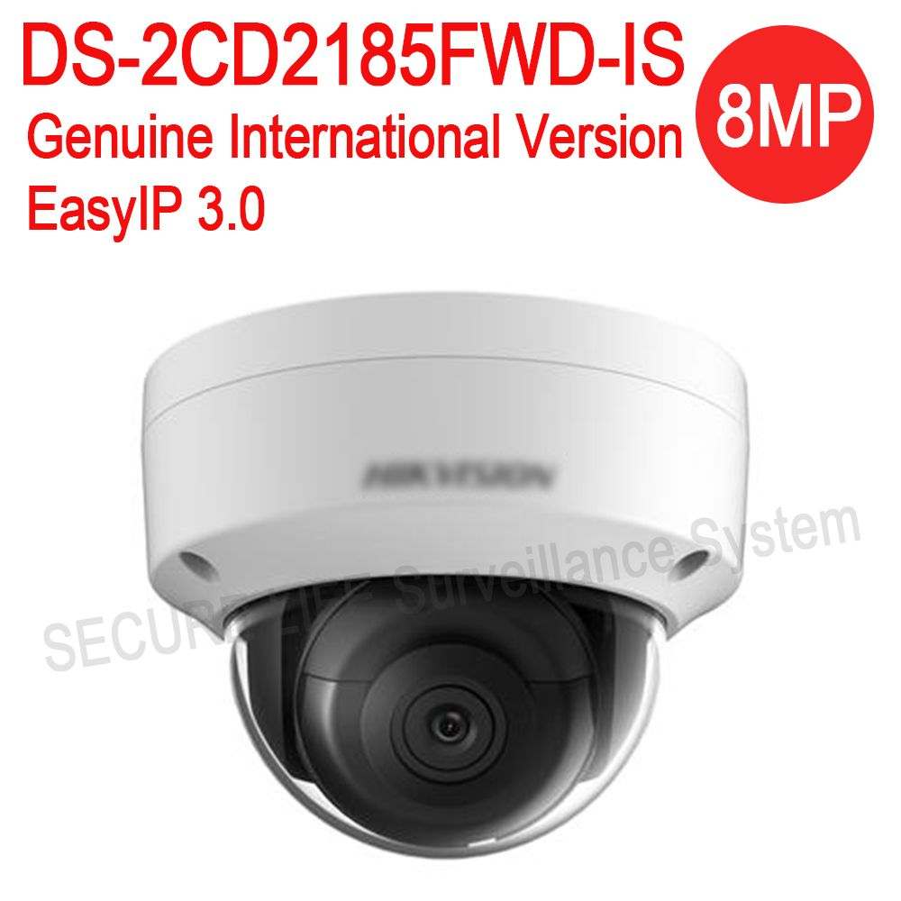 English version DS-2CD2185FWD-IS 8MP Network mini dome security CCTV Camera audio POE SD card H.265+ IP camera