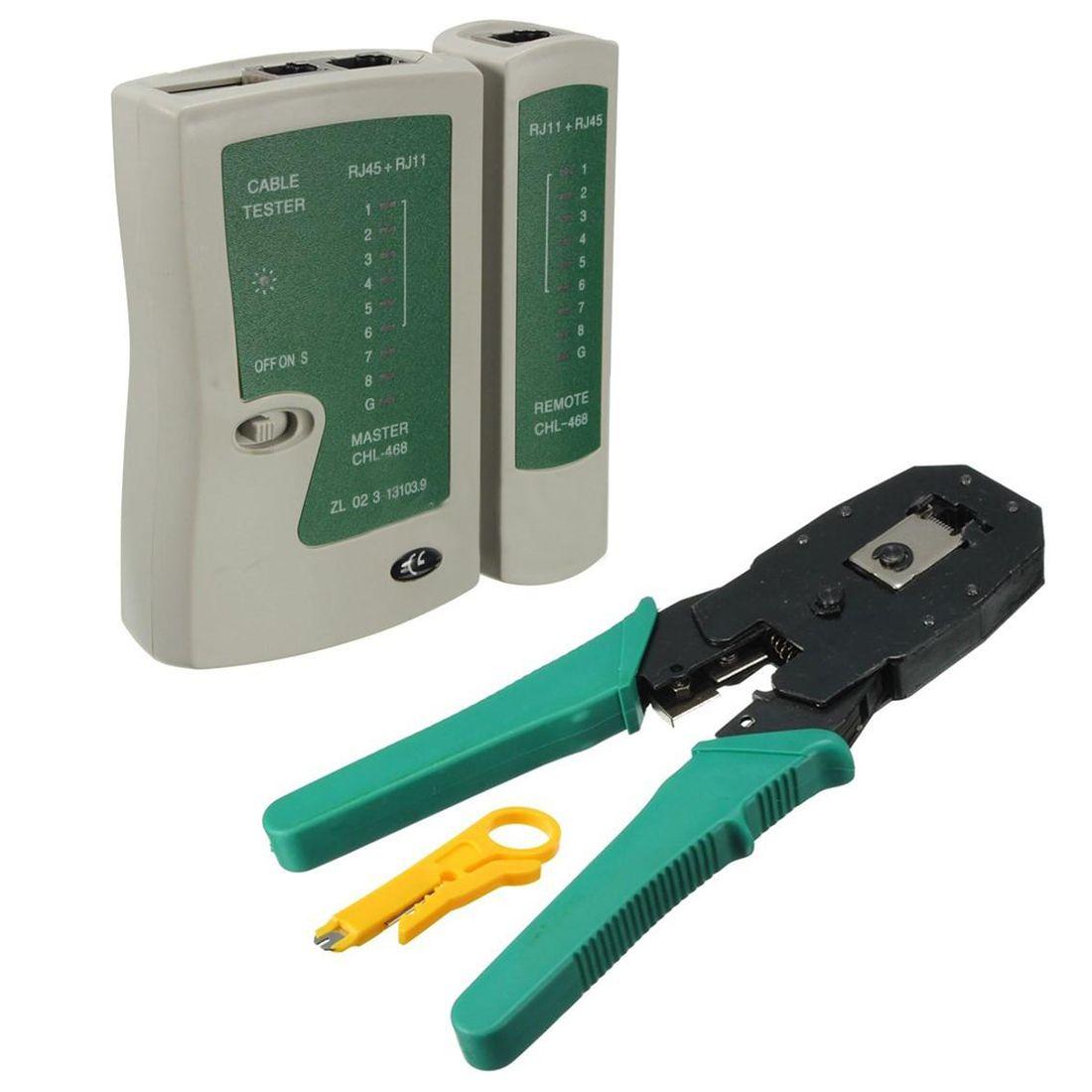 Testeur de câble réseau professionnel Lan rj45 rj11 avec sertissage de câble métallique outils à main réseau PC Herramientas