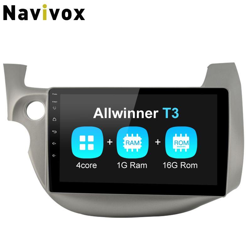 Navivox Car radio playe android multimedia GPS for HONDA FIT JAZZ 2007 2008 2009 2010 2012 Android 7.1 RAM 1G ROM 16G (no dvd)
