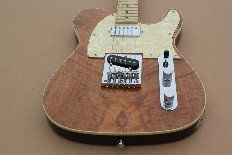 Koa Wood ELECTRIC GUITAR, REAL PHOTOS SHOWING guitarra telecaster guitarra eletrica guitars china