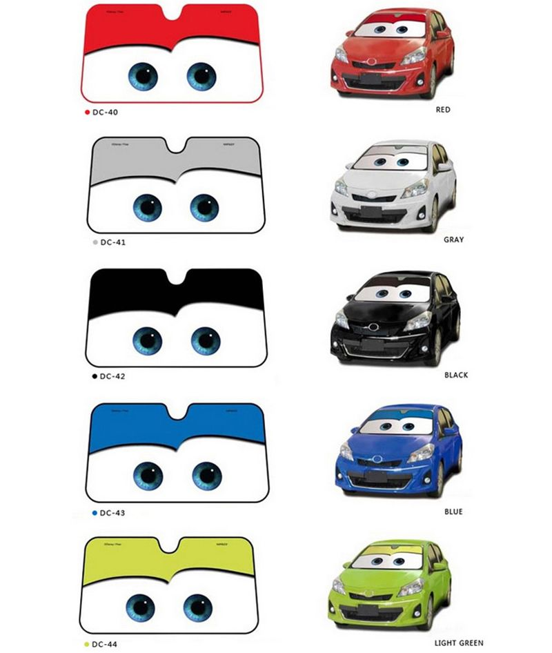 5 Color Cute Cartoon Eyes Car Windshield Sunshade Auto Window Windscreen Cover Sun Shade Car-covers Car Solar Protection