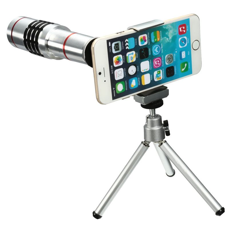 Universal 18X Zoom Mobile Phone Optical Camera Telephoto Lens Telescope With Mini Mount Tripod For iPhone For Samsung Smartphone