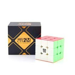 Cuberspeed Moyu Weilong GTS V2 M Magnetic Kecepatan Cube 3x3 Stickerless, Weilong GTS2 M Magic Cube Puzzle