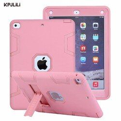 Shockproof Case for Apple iPad 9.7 inch 2017 2018 New Kickstand Kids Silicone Hard Full Body Protective Case Cover for iPad 2018