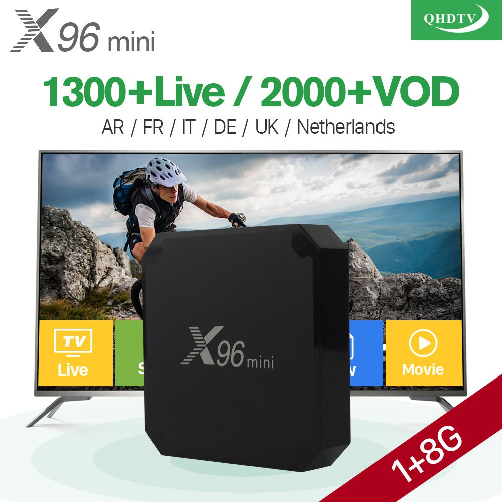 X96 mini Android 7.1 Smart IP TV Box 4K Quad Core QHDTV Europe Set Top Box X96mini IPTV Belgium Dutch French Arabic IPTV Top Box