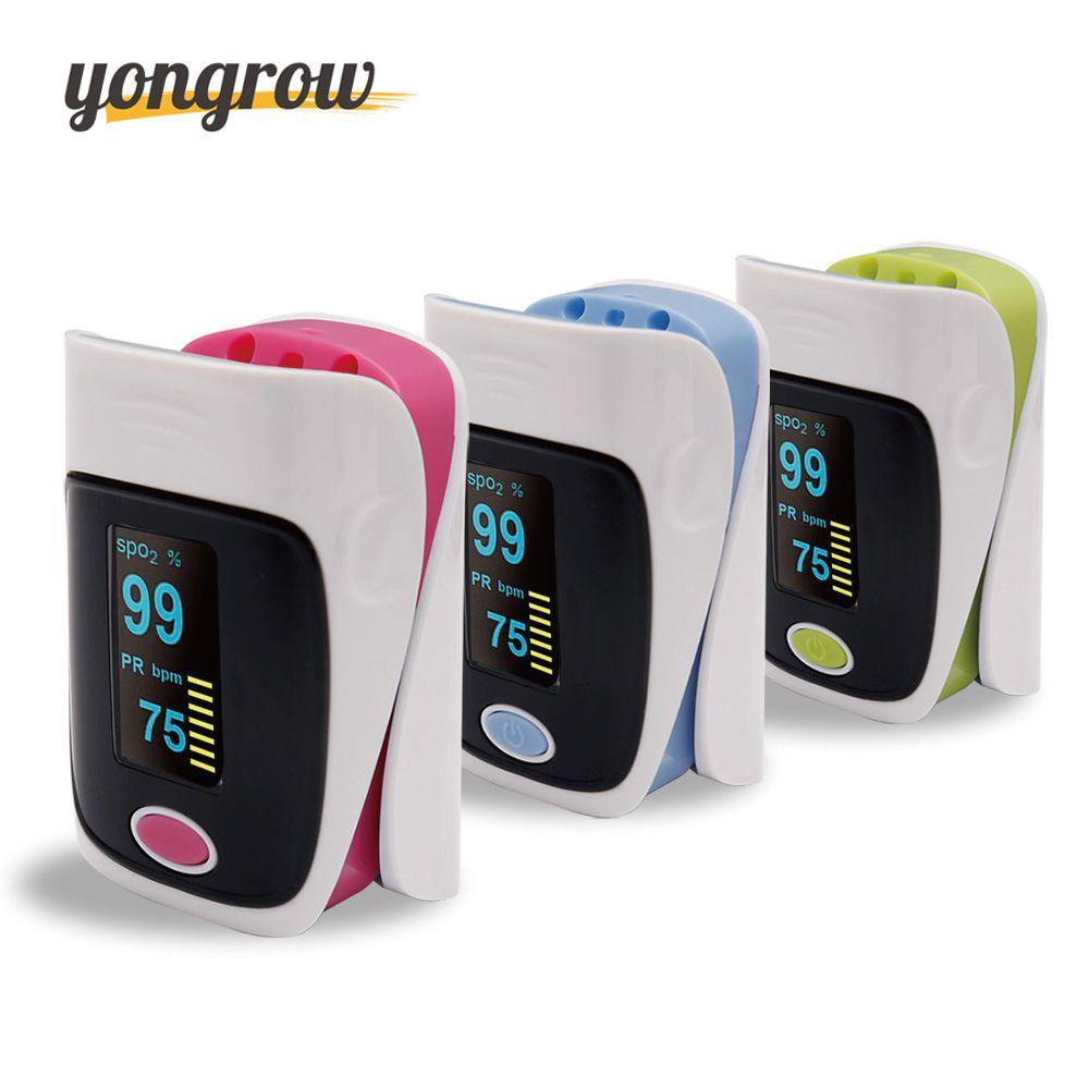 Yongrow Pulsioximetro Oximetro Finger Pulse Oximeter De Pulso De Dedo SpO2 Saturation Meter Pulse Oximeter CE Approved