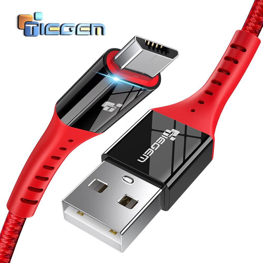 TIEGEM Micro USB Kabel 2A Schnelle Ladung USB Daten Kabel für Samsung Xiaomi Tablet Android USB Ladekabel Microusb Ladegerät kabel