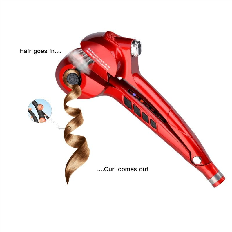 Steam Spray Automatic Hair Curlers Roller LED Digital Hair Curling Iron Professional Curls Corrugation Wave Hair Styling Tools