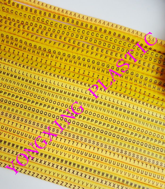 1300/lot EC-0 1.5MM2 freeshipping ABCDEFGHIJKLMNOPQRSTUVWXYZ letter cable marker 26 differnt letter suit cable 1.5 square