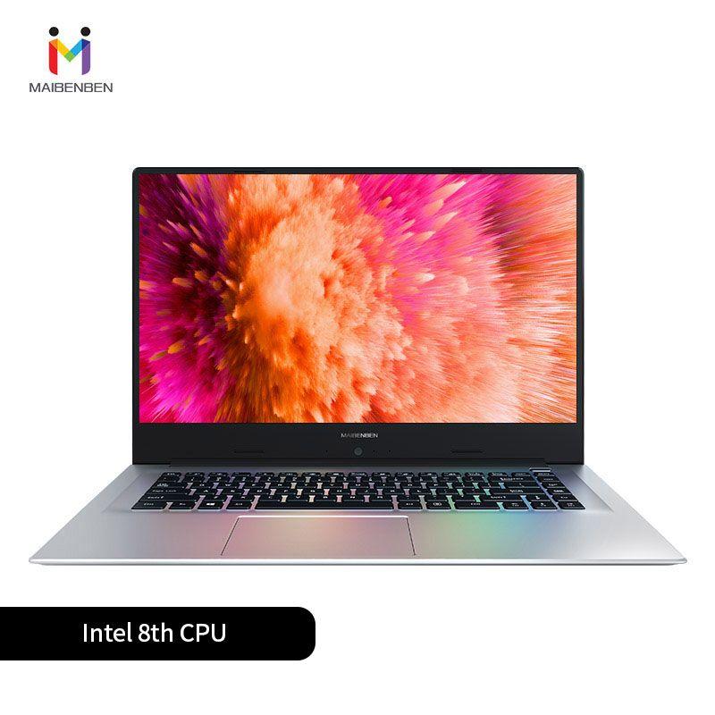 MaiBenBen XiaoMai 6A für Büro Laptop N4100 + MX250 2G Grafikkarte/8G RAM/480G SSD + 1TB HHD/DOS/Silber 15,6