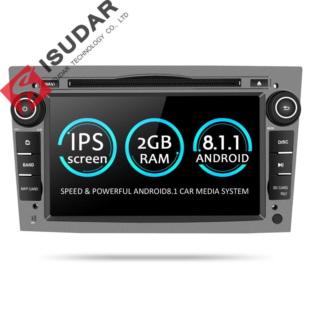Isudar Auto Multimedia-Player GPS Android 8.1 2 Din DVD Automotivo Für OPEL/ASTRA/Zafira/Combo/Corsa /Antara/Vivaro Radio FM DSP