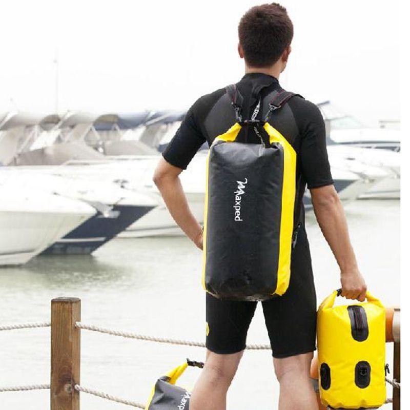 Verdickt Maxped PVC Driften Tasche Wasserdichte Trockenen Beutel-rucksack Kanu Kajak Rafting Schwimm Lagerhaltung Klapp Reise Kits