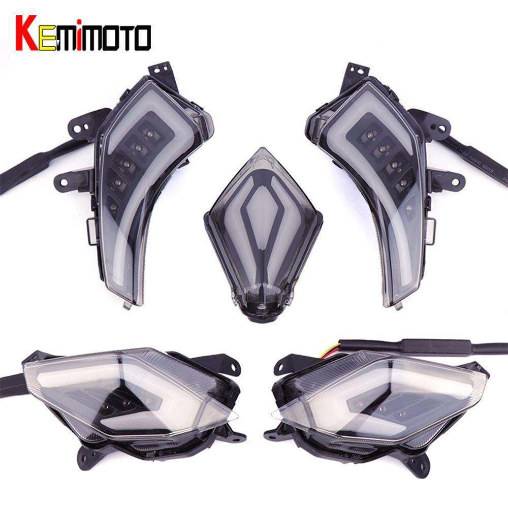 KEMiMOTO Signal Licht Für YAMAHA Tmax 530 T-Max530 TMAX530 T-Max 530 2012-2016 Hinten Schwanz Bremse Licht LED Blinker Rücklicht