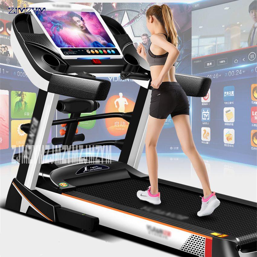 15,6 zoll familie laufen laufband Farbe bildschirm WIFI multi-funktion elektrische Laufband Für haus Fitness Ausrüstung Laufende 8096