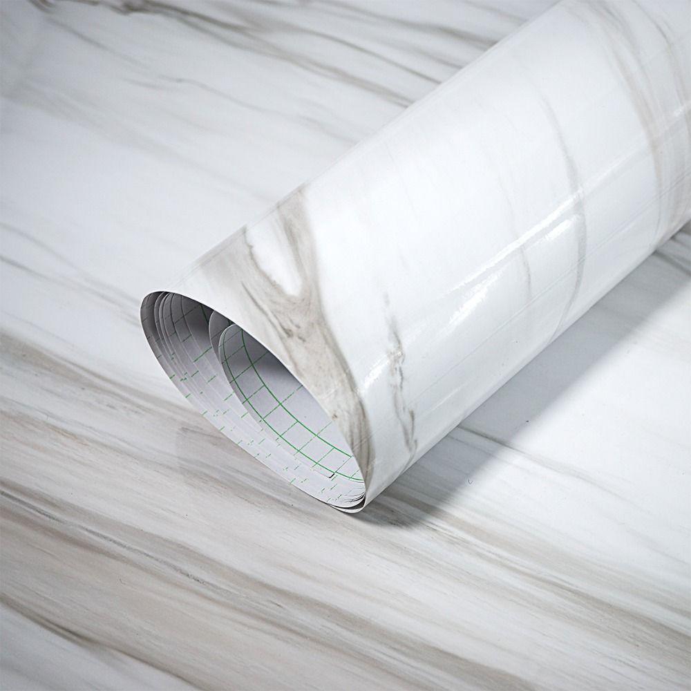 Glacier Белоснежка Мрамор Самоклеящийся винил Водонепроницаемый стикер для столешницы wallpaer Кухня Ванная комната