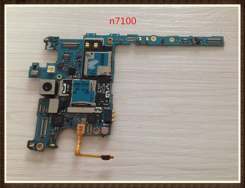 100%Working~<font><b>Unlock</b></font> Google Good quality Original Motherboard 16GB For Galaxy Note 2 n7100 Clean IMEI free shipping