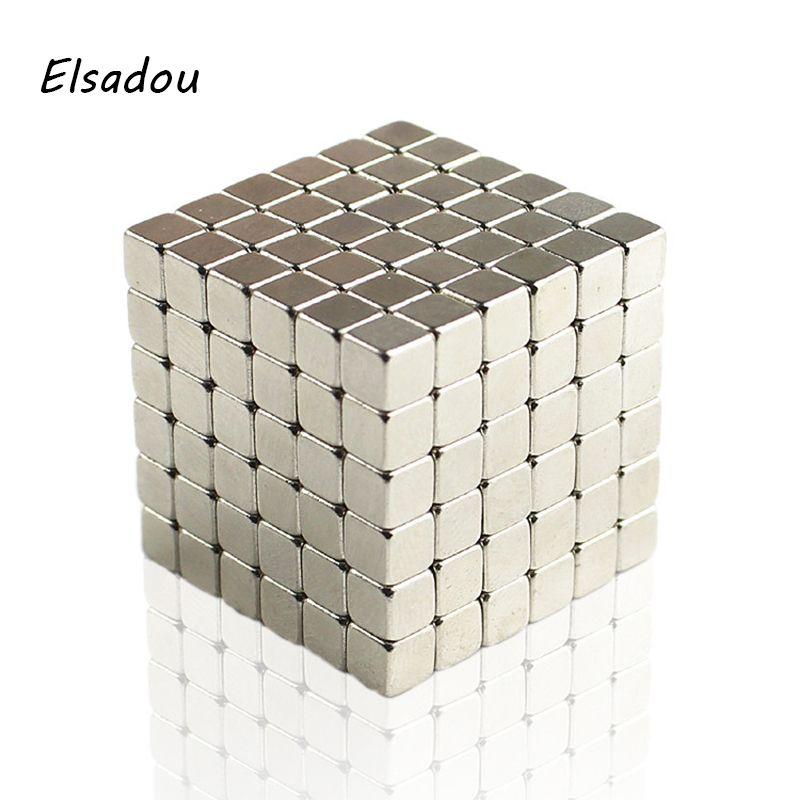 Elsadou 5mm 216 pcs Magnétique Fidget Cube Ed Jeu de Puzzle Magnétique Carré Cubes Jouet Enfants Adultes Anti Stress Creative cadeau