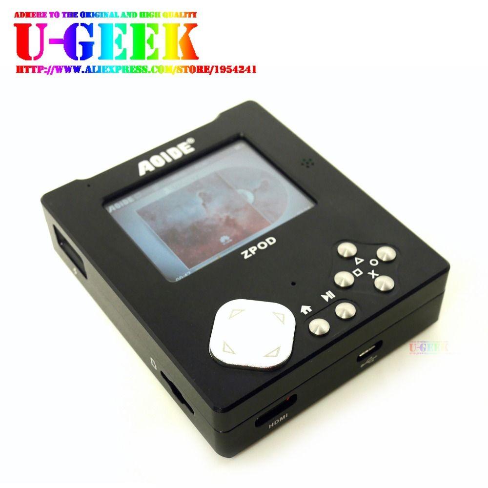 UGEEK ZPOD lossless HiFi conseil lecteur de musique + En Aluminium CNC cas kit | 192 k/24bit | w/o Framboise Pi Zéro | Portable | Jeu lecteur | Retropie
