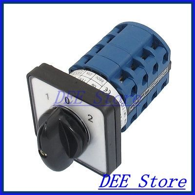 Electric 3 Position 16 Terminals Rotary Cam Changeover Switch 660V 20A