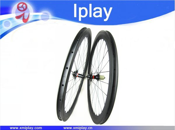 2017 IPLAY new clincher wheels 700C bicycle racing wheel carbon road bike 50mm carbon rim road wheels with Novatec 271/372 hubs