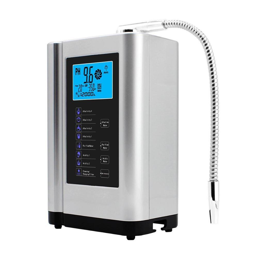 Alkalische Wasser Ionisator Maschine Reiniger Produziert pH 3,5-10,5 Alkalische Säure Bis zu-650mV ORP LCD Touch Wasser filter ionisation