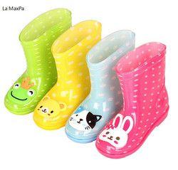 2018 baru Bayi Sepatu Anak Sepatu Hujan Dengan Pencetakan Kartun gadis Anak Sepatu Hujan Busur Tahan Air Sepatu Karet Anak Bayi sepatu