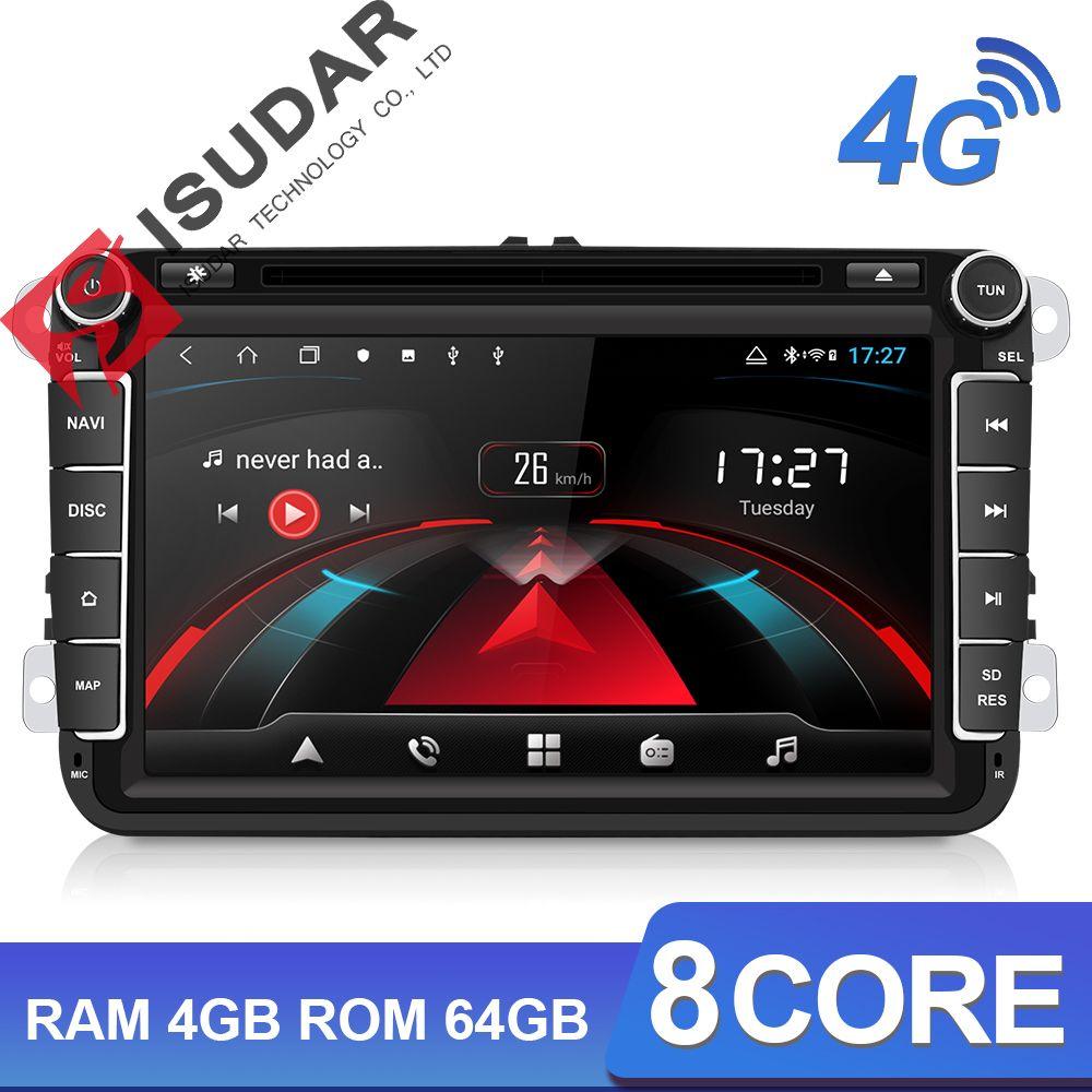 Isudar H53 2 Din 4G Android Auto Radio Multimedia Für VW/Volkswagen/POLO/Golf/Skoda /sitz/Leon/PASSAT B6 Auto GPS Kamera USB DVR