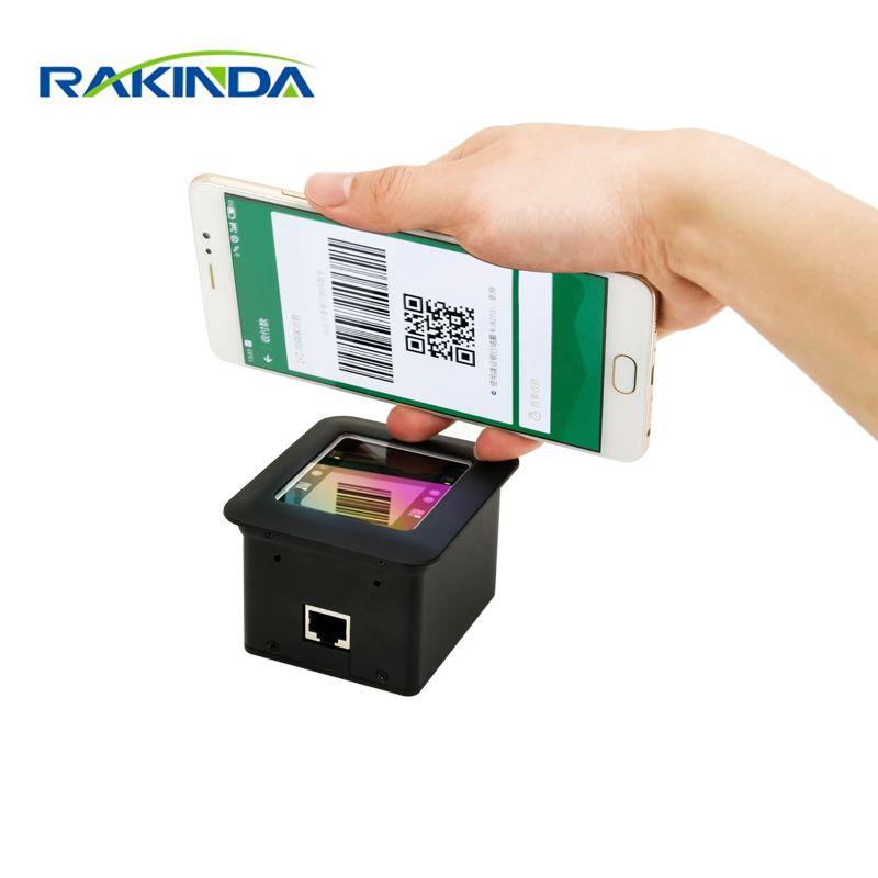 NEW Arrival RAKINDA RD4500R USB RS232 2D Fixed Mount QR Barcode Scanner Module For Kiosk or Turnstile Mobile Payment