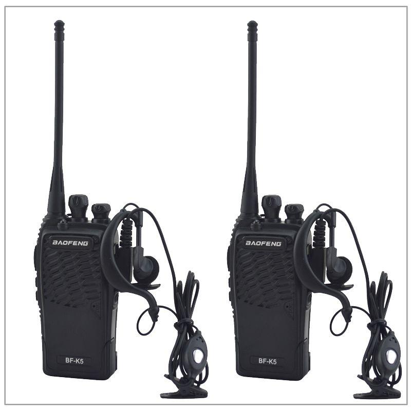 2 pcs/Lot Baofeng BF-K5 UHF 400-480 MHz Portable Deux-way radio Émetteur-Récepteur Baofeng Talkie-walkie pour jambon, hôtel avec l'écouteur Libre