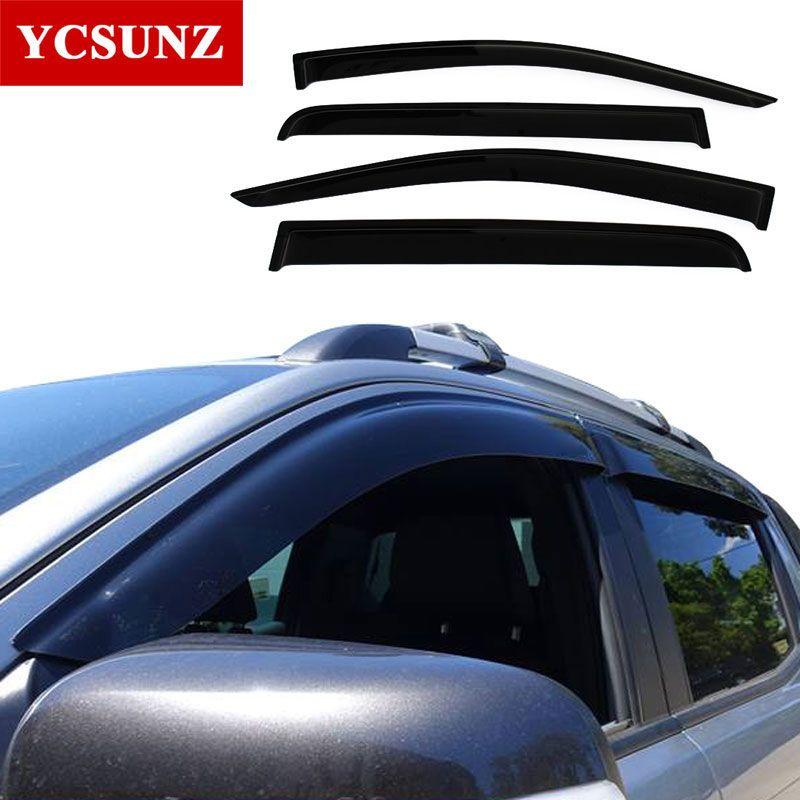 2012-2017 auto Fenster Deflektoren Für Ford Ranger T6 T7 Schwarz auto Wind Deflector Wache Für Ford Ranger Wildtrak Vent Visor Ycsunz