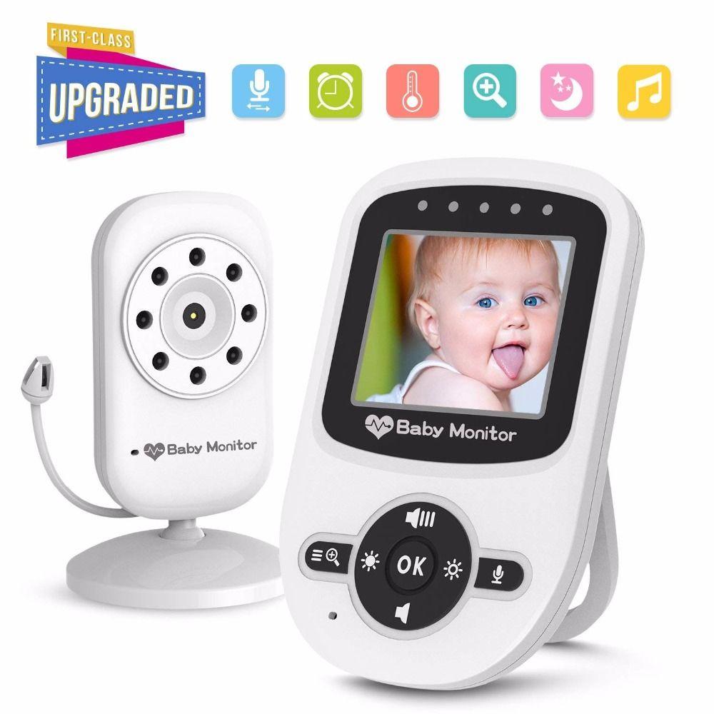 babykam baby monitor baby monitors 2.4 inch LCD IR Night Vision Intercom Lullabies Temperature Monitor 2X Zoom baby camera nanny